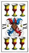 Six of Cups Tarot card in Swiss (1JJ) Tarot deck