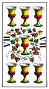Seven of Cups Tarot card in Swiss (1JJ) Tarot deck