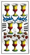 Eight of Cups Tarot card in Swiss (1JJ) Tarot deck