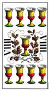 Nine of Cups Tarot card in Swiss (1JJ) Tarot deck