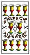 Ten of Cups Tarot card in Swiss (1JJ) Tarot deck