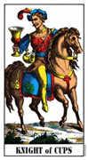 Knight of Cups Tarot card in Swiss (1JJ) deck