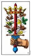 Ace of Swords Tarot card in Swiss (1JJ) Tarot deck