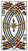 Eight of Swords Tarot card in Swiss (1JJ) deck