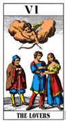 The Lovers Tarot card in Swiss (1JJ) Tarot deck