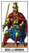 King of Swords Tarot card in Swiss (1JJ) Tarot deck