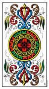 Ace of Coins Tarot card in Swiss (1JJ) Tarot deck