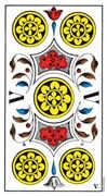 Five of Coins Tarot card in Swiss (1JJ) Tarot deck