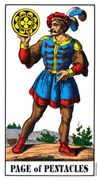 Page of Coins Tarot card in Swiss (1JJ) Tarot deck