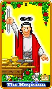 The Magician Tarot Card - 8-Bit Tarot Deck