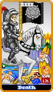 Death Tarot Card - 8-Bit Tarot Deck