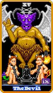 The Devil Tarot Card - 8-Bit Tarot Deck
