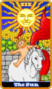 The Sun Tarot Card - 8-Bit Tarot Deck