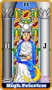 The High Priestess Tarot Card - 8-Bit Tarot Deck