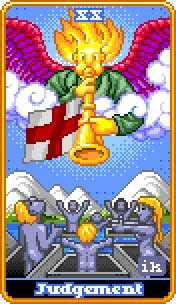 Judgment Tarot Card - 8-Bit Tarot Deck