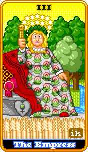 The Empress Tarot Card - 8-Bit Tarot Deck