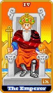 The Emperor Tarot Card - 8-Bit Tarot Deck