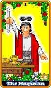 The Magician Tarot card in 8-Bit Tarot Tarot deck