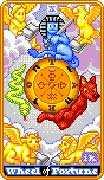 Wheel of Fortune Tarot card in 8-Bit Tarot Tarot deck