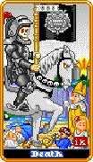 Death Tarot card in 8-Bit Tarot deck