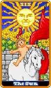 The Sun Tarot card in 8-Bit Tarot Tarot deck
