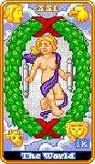 The World Tarot card in 8-Bit Tarot deck