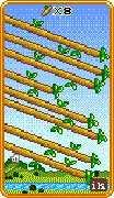 Eight of Wands Tarot card in 8-Bit Tarot deck