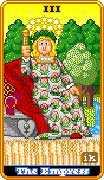 The Empress Tarot card in 8-Bit Tarot deck