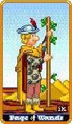 Page of Wands Tarot card in 8-Bit Tarot Tarot deck