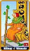 King of Wands Tarot card in 8-Bit Tarot deck