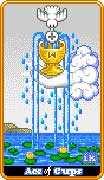 Ace of Cups Tarot card in 8-Bit Tarot deck