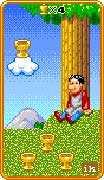 Four of Cups Tarot card in 8-Bit Tarot deck