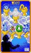 Seven of Cups Tarot card in 8-Bit Tarot deck