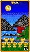 Eight of Cups Tarot card in 8-Bit Tarot deck