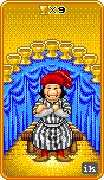 Nine of Cups Tarot card in 8-Bit Tarot deck