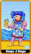 Page of Cups Tarot card in 8-Bit Tarot deck