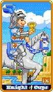 Knight of Cups Tarot card in 8-Bit Tarot Tarot deck