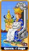 Queen of Cups Tarot card in 8-Bit Tarot deck