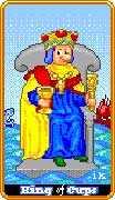 King of Cups Tarot card in 8-Bit Tarot Tarot deck