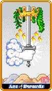 Ace of Swords Tarot card in 8-Bit Tarot deck