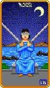 Two of Swords Tarot card in 8-Bit Tarot deck