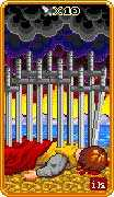 Ten of Swords Tarot card in 8-Bit Tarot deck