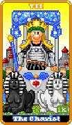 The Chariot Tarot card in 8-Bit Tarot deck