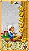 Eight of Coins Tarot card in 8-Bit Tarot Tarot deck
