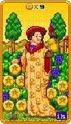 Nine of Coins Tarot card in 8-Bit Tarot Tarot deck