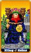 King of Coins Tarot card in 8-Bit Tarot Tarot deck