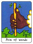 african - Ace of Wands