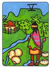 african - Five of Cups