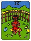 african - Nine of Cups