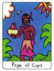 african - Page of Cups